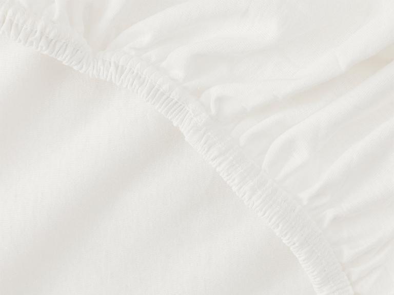Düz Penye Çift Kişilik Lastikli Çarşaf Takımı 160X200 Cm Beyaz