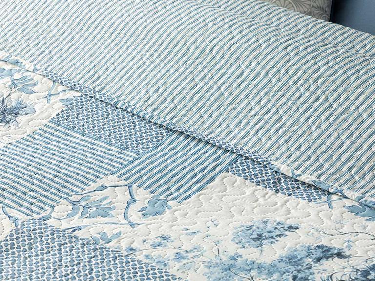 Toile Tek Kişilik Çok Amaçlı Örtü 160X220 Cm Mavi