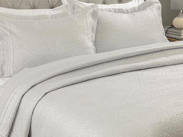 Glory Jakarlı Çift Kişilik Yatak Örtüsü Takımı 250X260 Cm Silver