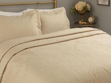 Zen Jakarlı Çift Kişilik Yatak Örtüsü Takımı 250X260 Cm Altın