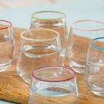 Lena Cam 6'lı Kahve Yanı Su Bardağı 115 Ml Renkli