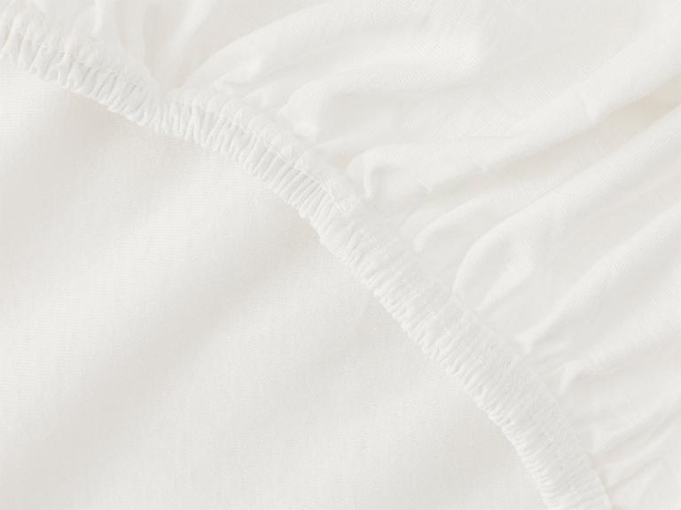 Düz Penye Battal Lastikli Çarşaf Takımı 180x200 Cm Beyaz