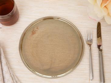 Porpois Cam Pasta Tabağı 21 Cm Kahve