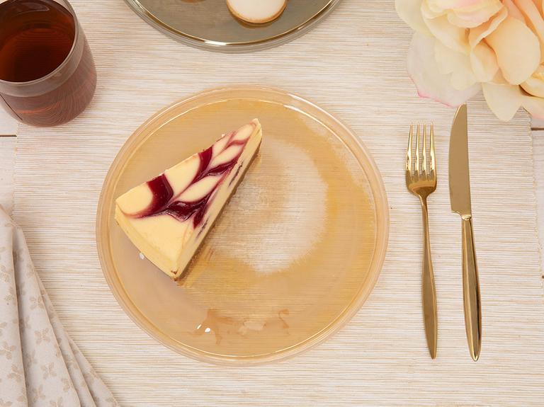 Porpois Cam Pasta Tabağı 21 Cm Amber