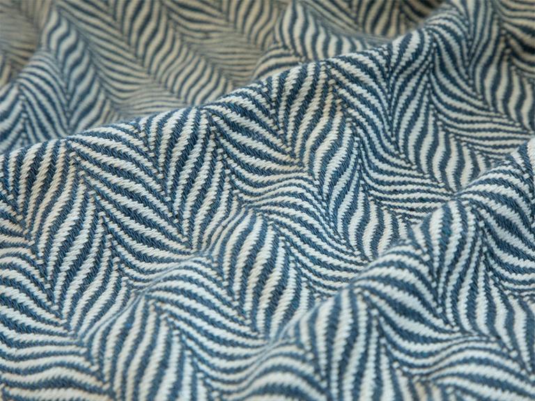 Herringbone Koltuk Şalı 130x170 Cm İndigo