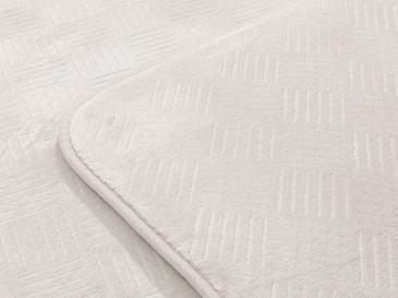 Flo Sıcak Baskı Kaydırmaz Taban Banyo Paspası Seti 60x100 Cm + 60x50 Cm Gri