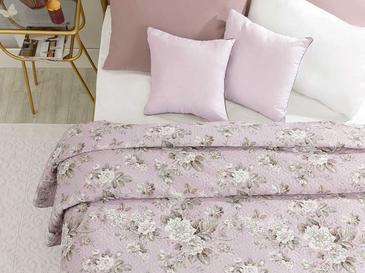 Florence King Size Çok Amaçlı Yatak Örtüsü 220x240 Cm Lila
