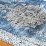 Silk Touch Mills Kadife Halı 80x140 Cm Lacivert