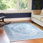 Silk Touch Rena Kadife Halı 160x230 Cm Mavi
