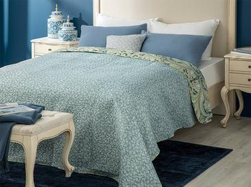 Vanya Çift Kişilik Çok Amaçlı Yatak Örtüsü 200x220 Cm Mavi