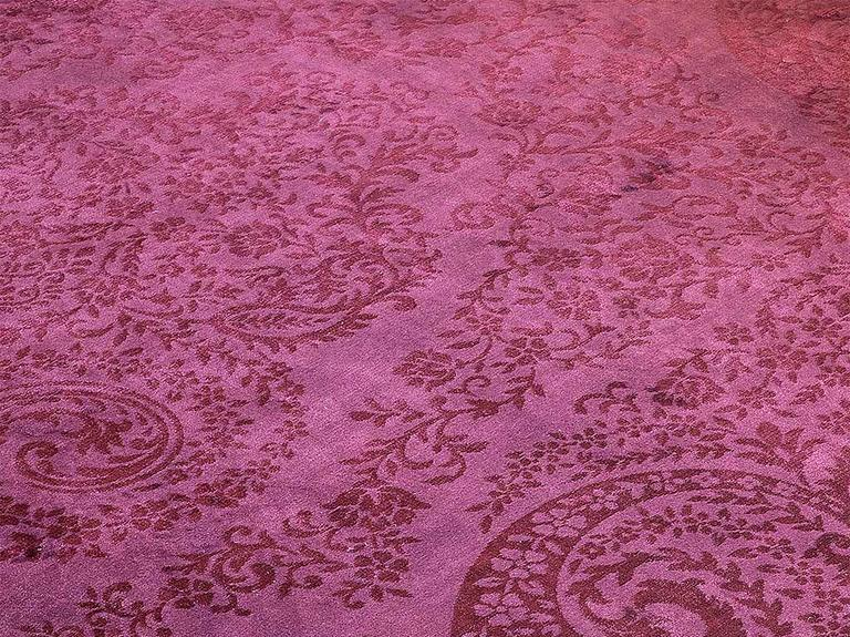 Velvet Klasik Kadife Halı 160x230 Cm Bordo