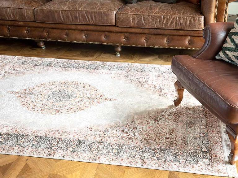 Silk Touch Ness Kadife Halı 80x140 Cm Bej