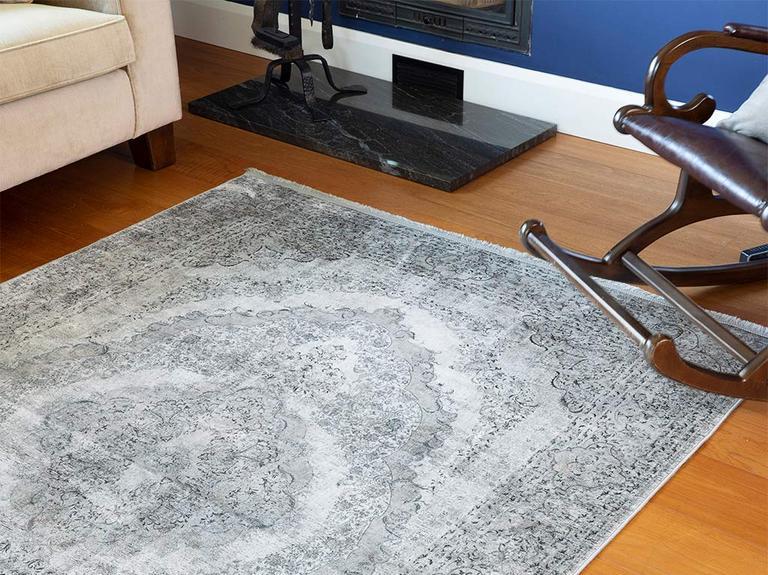 Silk Touch Rena Kadife Halı 80x140 Cm Gri