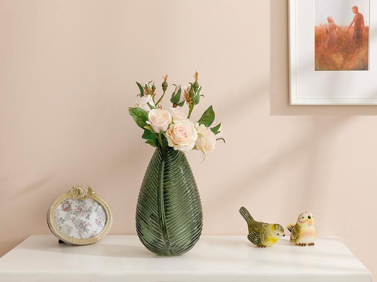 Majestic Rose Yapay Çiçek 43 Cm Açık Pembe