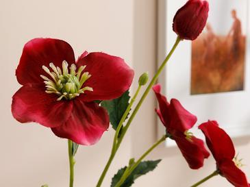 Rose Spray Yapay Çiçek 72 Cm Koyu Pembe