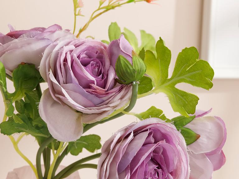 Camellia Yapay Çiçek 46 Cm Mor