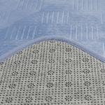 Flo Sıcak Baskı Kaydırmaz Taban Banyo Paspası Seti 50x80 - 45x50 Cm İndigo