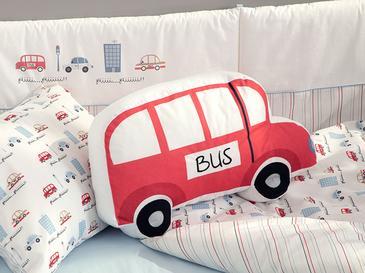 Mini Bus Dekoratif Yastık 41x26 Kırmızı