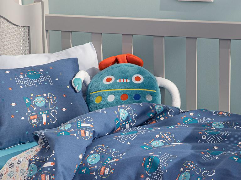 Happy Robots Dekoratif Yastık 32x25 Yeşil