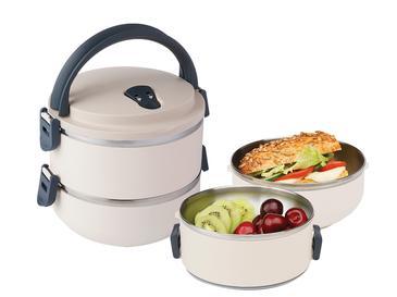 Basic Paslanmaz Çelik 2'li Sızdırmaz Lunch Box 1,5l Bej