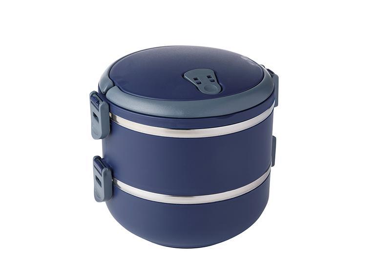 Basic Paslanmaz Çelik 2'li Sızdırmaz Lunch Box 1,5l Lacivert