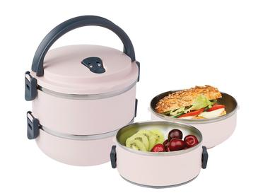 Basic Paslanmaz Çelik 2'li Sızdırmaz Lunch Box 1,5l Pudra