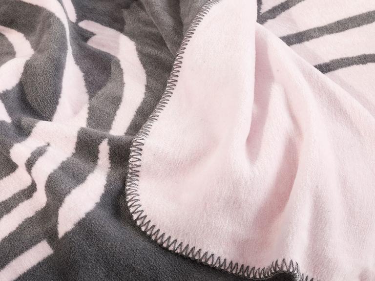 Girl Face Pamuklu Tek Kişilik Çocuk Battaniye 150x200 Cm Antrasit