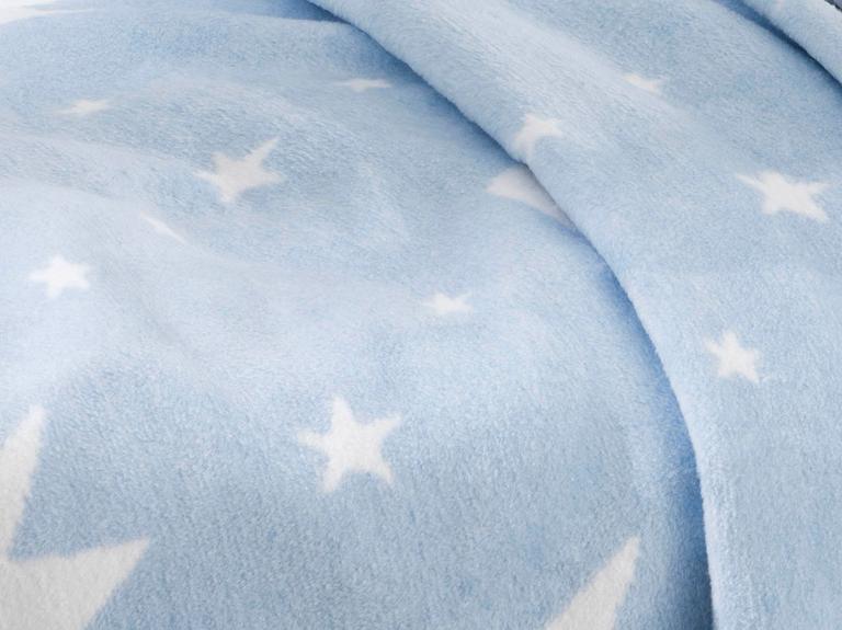 Mini Crown Pamuklu Bebe Battaniye 100x120 Cm Mavi