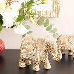Elephant's Trunk Polyresin Biblo 20x8,5x14,5 Cm Kahve