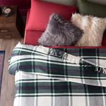 Mackenzie Simli Pamuklu Tek Kişilik Battaniye 150x200 Cm Yeşil