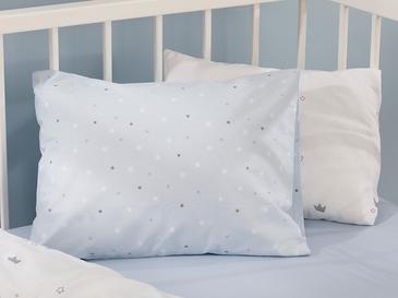 Mini Astro Pamuklu Bebe Yastık Kılıfı 35x45 Cm Mavi