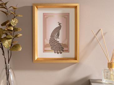 Peafowl Tablo 26x21 cm Pudra
