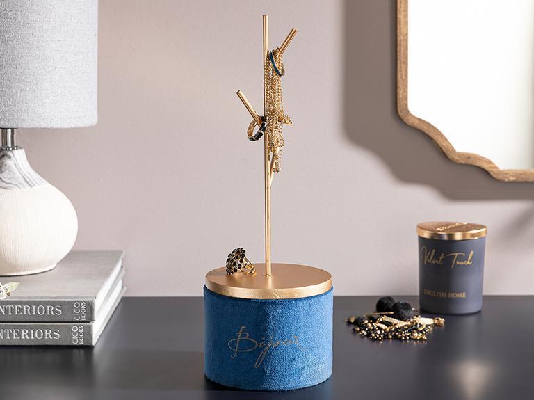 Ferlin Kadife Takılık 11x11x31,5 Cm Mavi