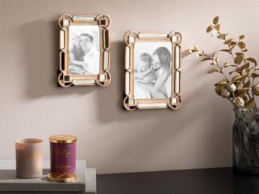 Greta Polyresin Çerçeve 16x2x21 Cm Gold