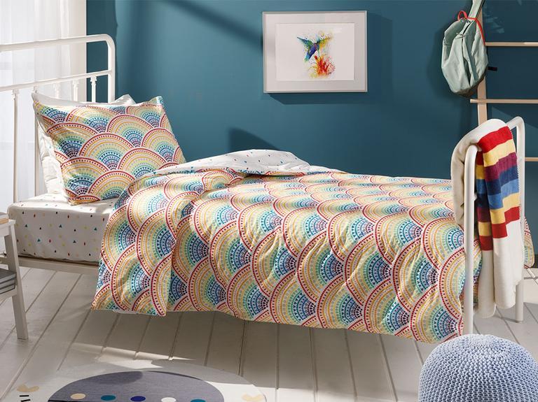Stripes Pamuklu Tek Kişilik Çocuk Battaniye 150x200 Cm Ekru