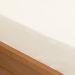 Düz 2 Pamuklu Tek Kişilik Lastikli Çarşaf 100X200 Cm Kırık Beyaz