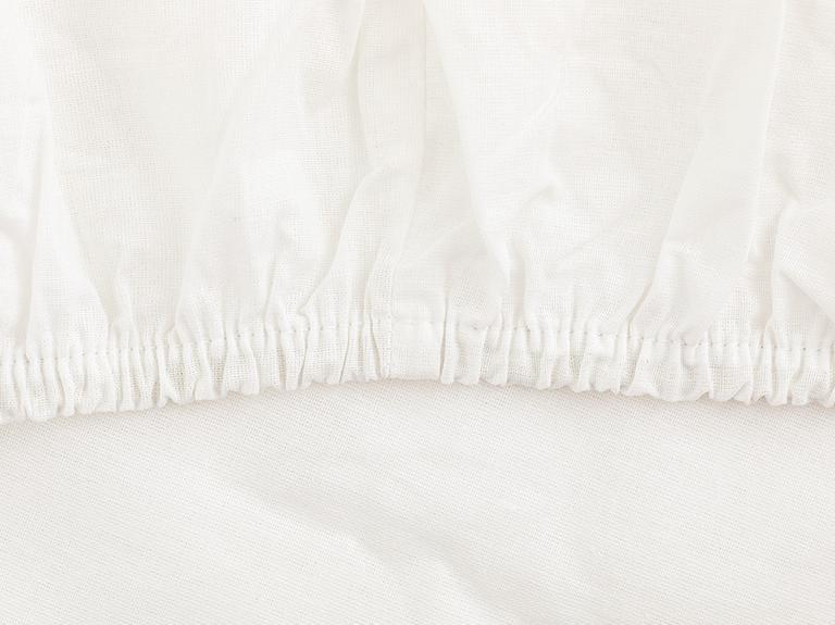 Düz 2 Pamuklu Tek Kişilik Lastikli Çarşaf 100X200 Cm Beyaz