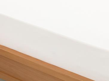 Düz 2 Pamuklu Ara Ebat Lastikli Çarşaf 140X200 Cm Beyaz