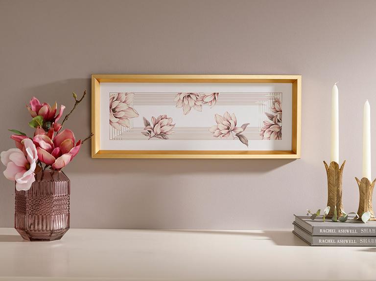 Magnolia Bundle Tablo 52x21 cm Pudra