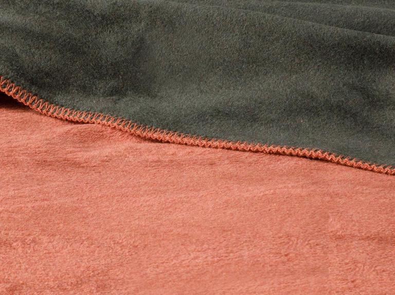 Plain Pamuklu Tek Kişilik Battaniye 150x200 Cm Kiremit-haki