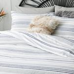 Modern Stripe Pamuklu Çift Kişilik Nevresim Seti 200x220 Cm Gri