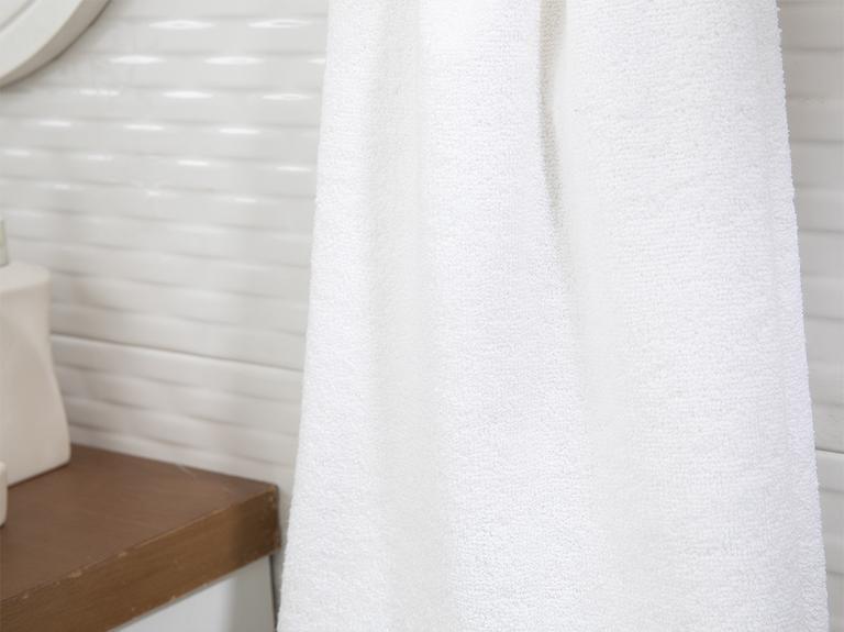 Plain Pamuk Polyester Yüz Havlusu 50x90 Cm Beyaz