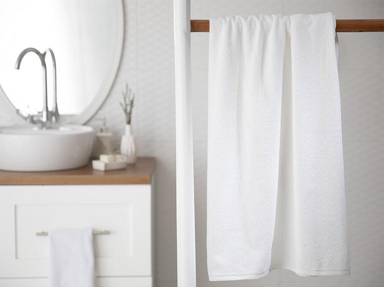 Plain Banyo Havlusu 90x150 Cm Beyaz