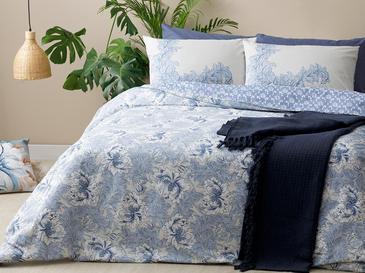 Morris Pamuklu Tek Kişilik Nevresim Seti 160x220 Cm Mavi
