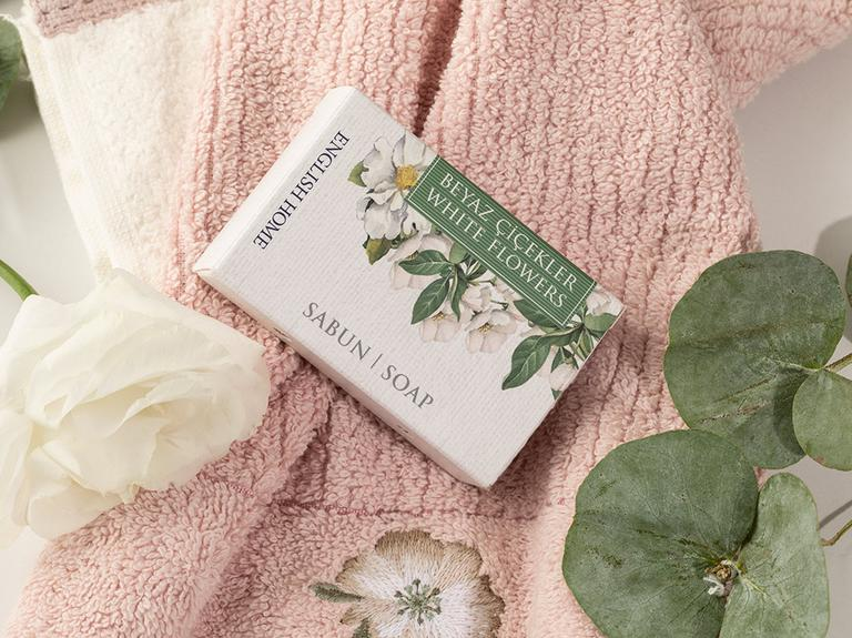 Beyaz Çiçekler Sabun 100 Gr Beyaz