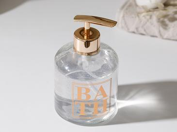 Casa Cam Banyo Sıvı Sabunluk 8x14 Cm Rose Gold