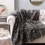 Arty Stripe Akrilik Tv Battaniye 130x170 Cm Siyah