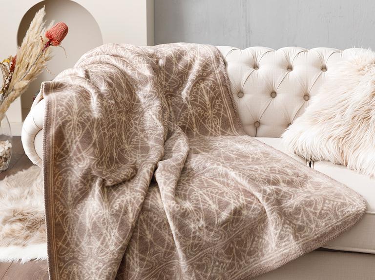 Art Nouveau Akrilik Tv Battaniye 130x170 Cm Bej