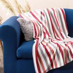 Stripe Polar Tv Battaniye 120x170 Cm Gül Kurusu