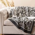 Art Nouveau Akrilik Koltuk Şalı 130x170 Cm Bej - Siyah